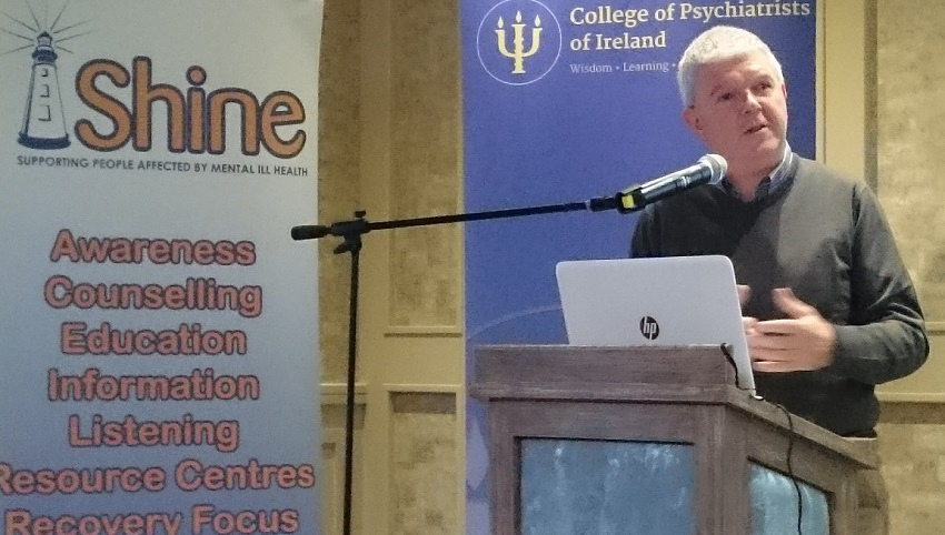 Dr Michael McGloin at the joint College of Psychiatrists and Shine Conference 2016