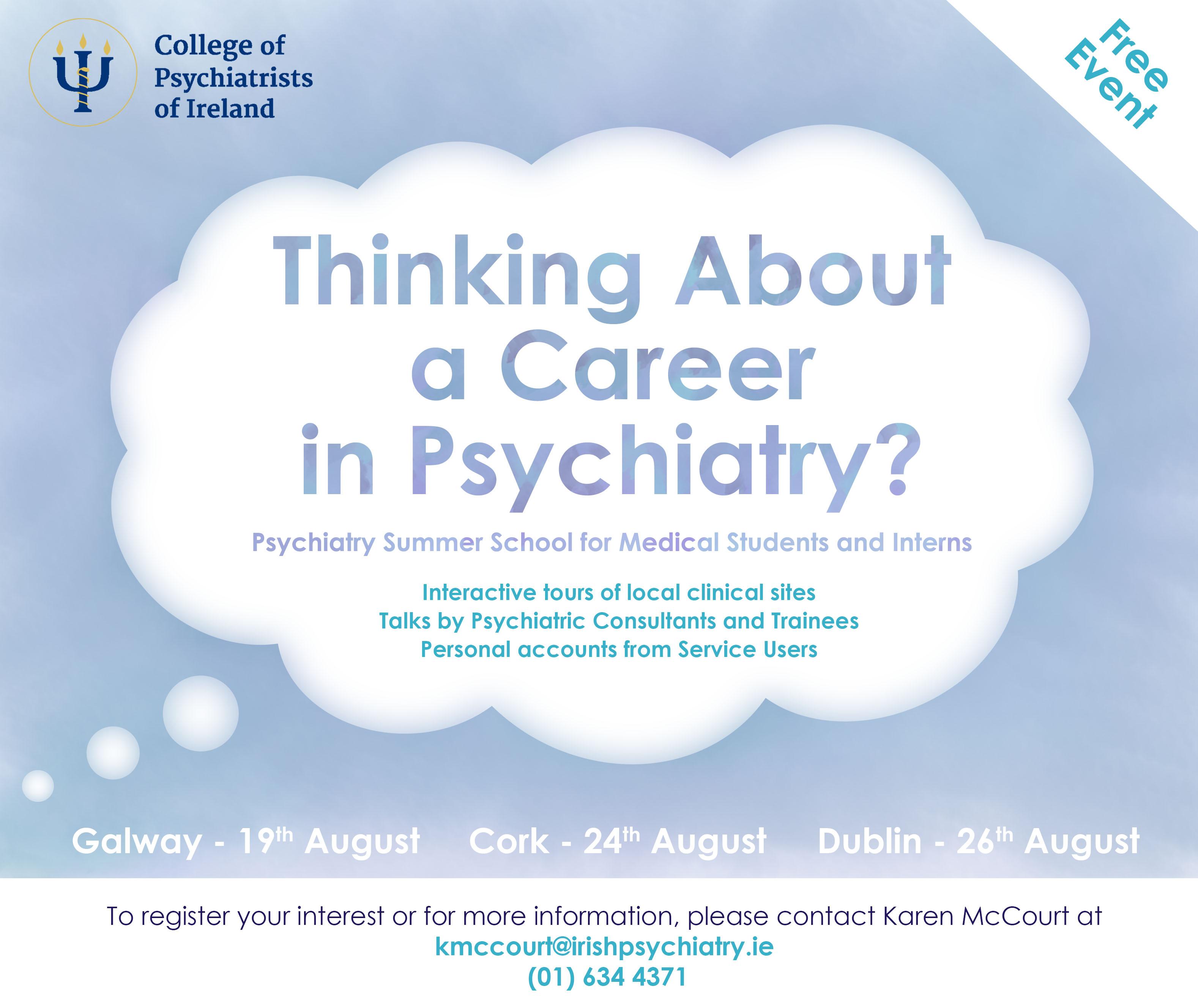 Summer Schools 2016 – The College of Psychiatrists of Ireland