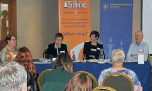 Miriam Kennedy Patricia Gilheaney Barbara Brenna John Saunders at the joint SHINE and College of Psychiatrists of Ireland conference