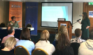 Miriam Kennedy Susan McFeeley at the joint SHINE and College of Psychiatrists of Ireland conference